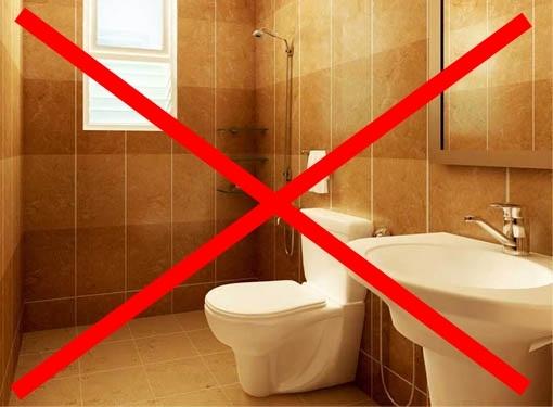 Tuyệt đối không trốn trong nhà vệ sinh khi hỏa hoạn xảy ra.